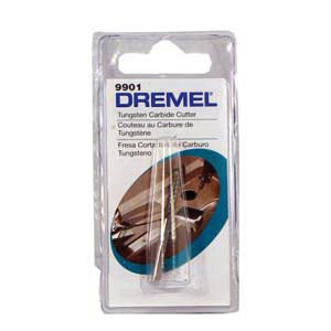 Picture of DREMEL 9901 Cutter, 1/8 in Dia, 1-1/2 in L, 1/8 in Dia Shank, Tungsten Carbide