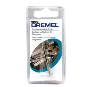 Picture of DREMEL 9903 Cutter, 1/8 in Dia, 1-1/2 in L, 1/8 in Dia Shank, Tungsten Carbide
