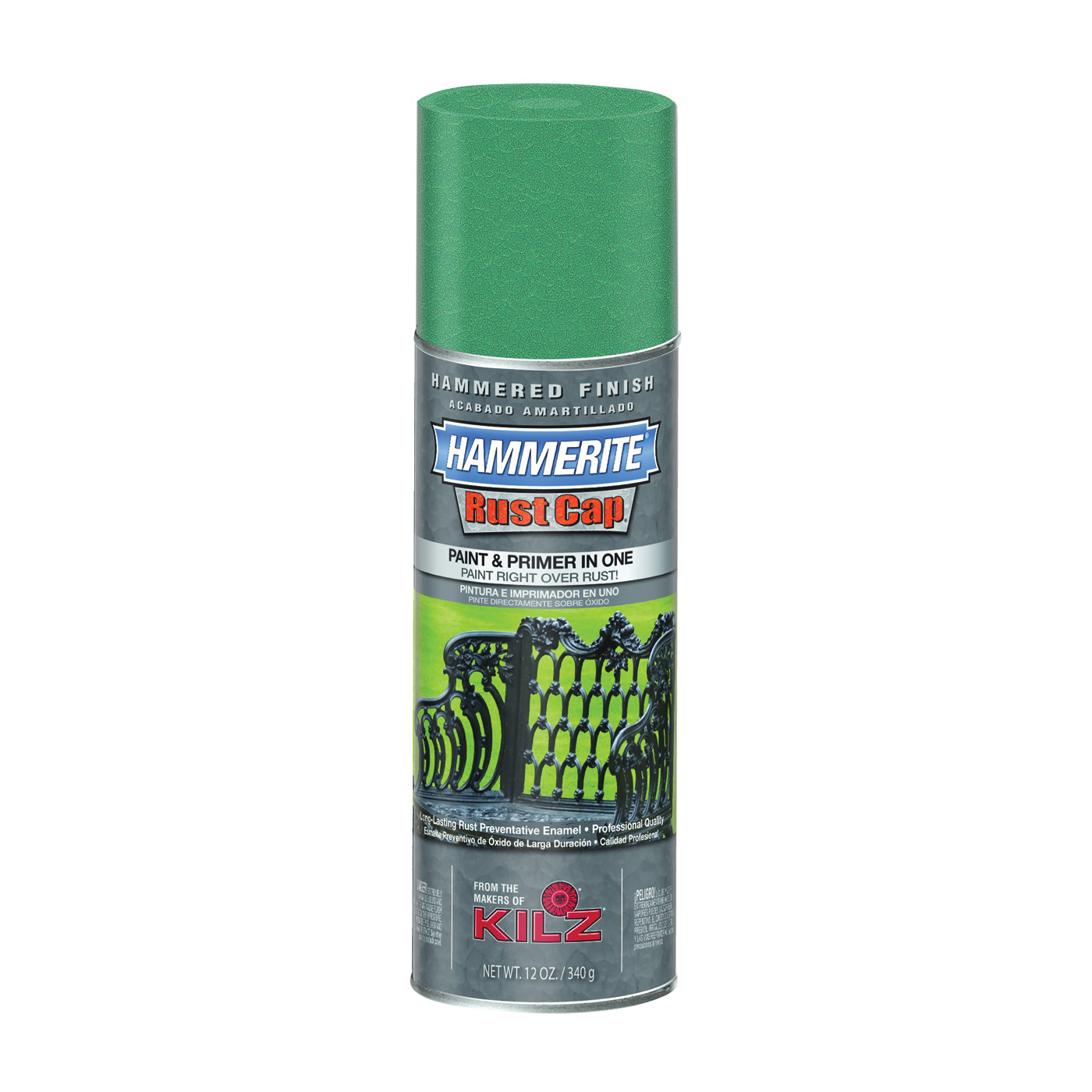 Picture of Kilz 41175 Enamel Paint, Hammered, Mid Green