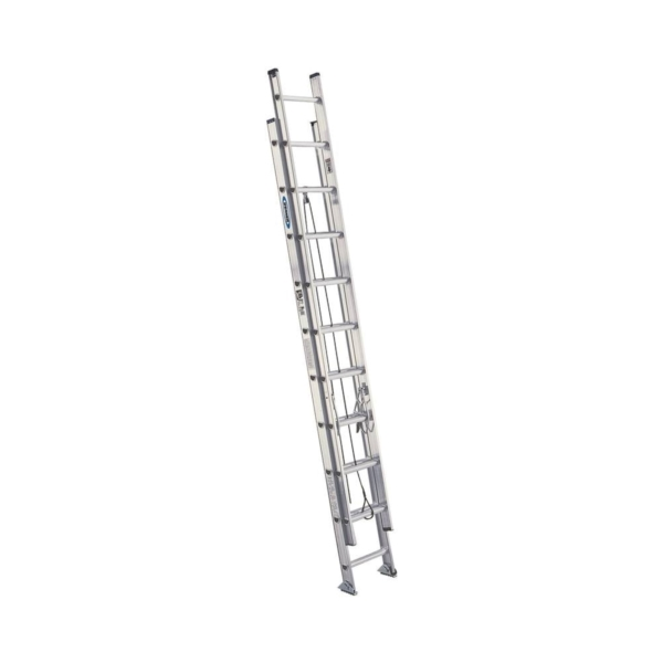 Picture of WERNER D1520-2 Extension Ladder, 20 ft H Reach, 300 lb, Aluminum