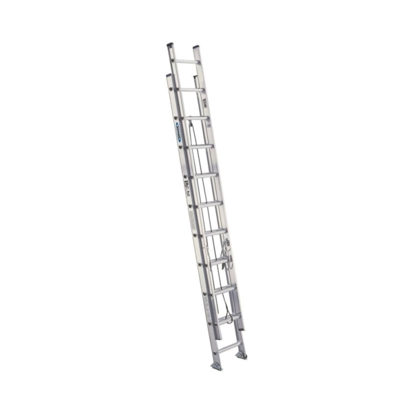 Picture of WERNER D1524-2 Extension Ladder, 23 ft H Reach, 300 lb, Aluminum