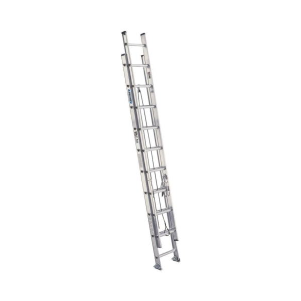 Picture of WERNER D1528-2 Extension Ladder, 27 ft H Reach, 300 lb, Aluminum