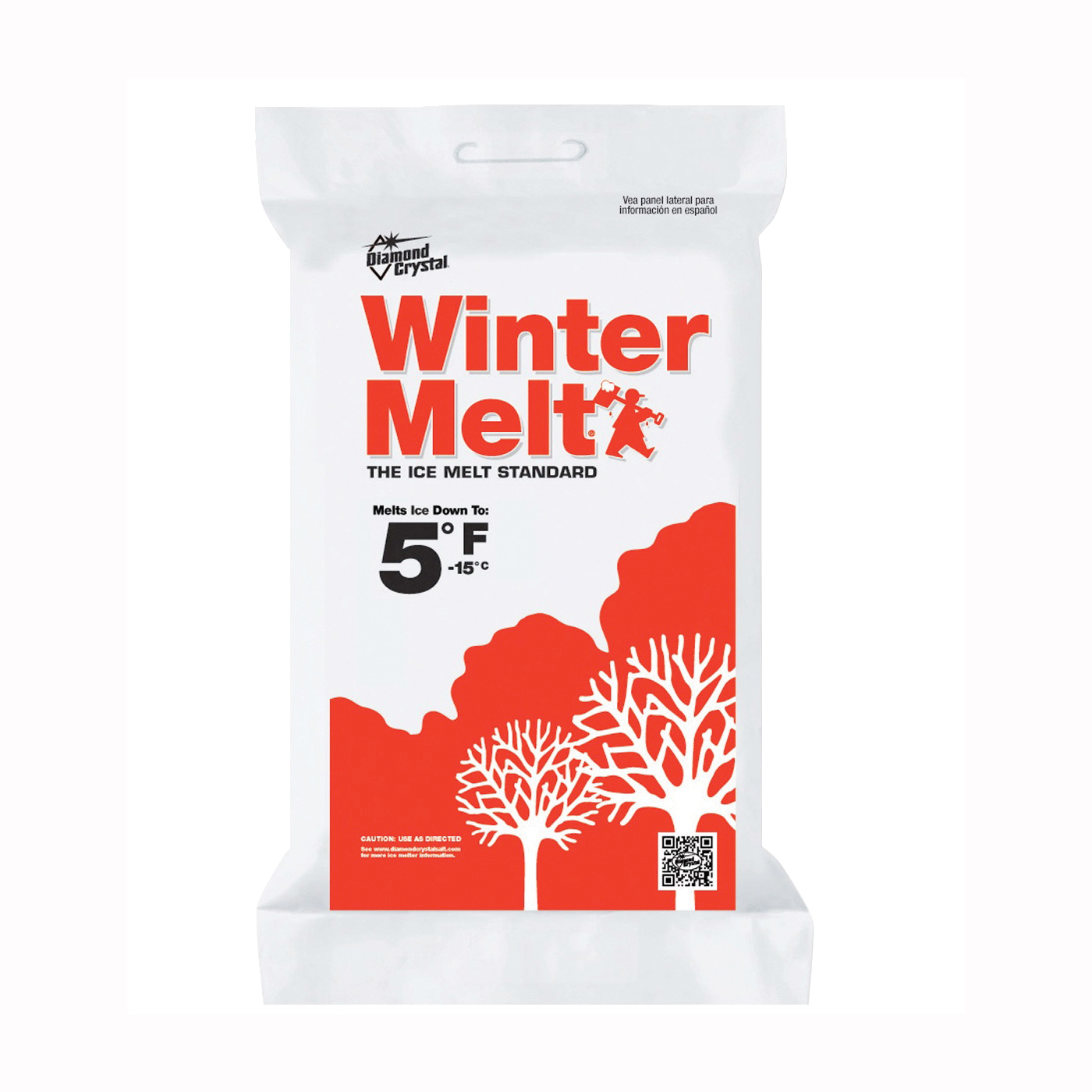 Picture of Cargill Diamond Crystal Winter Melt 100046857 Ice Melter Salt, Crystalline Solid, White, 10 lb Package, Bag