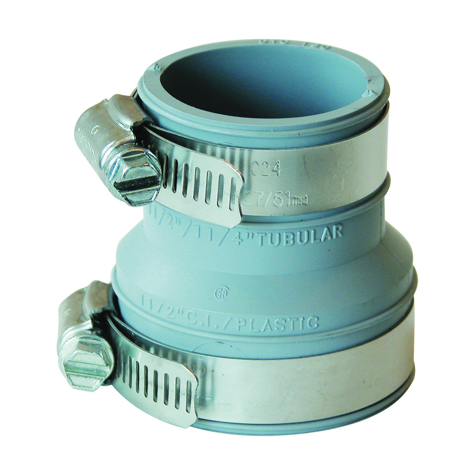 Picture of FERNCO PDTC-150 Drain Trap Connector, 1-1/2 in, PVC, 4.3 psi Pressure