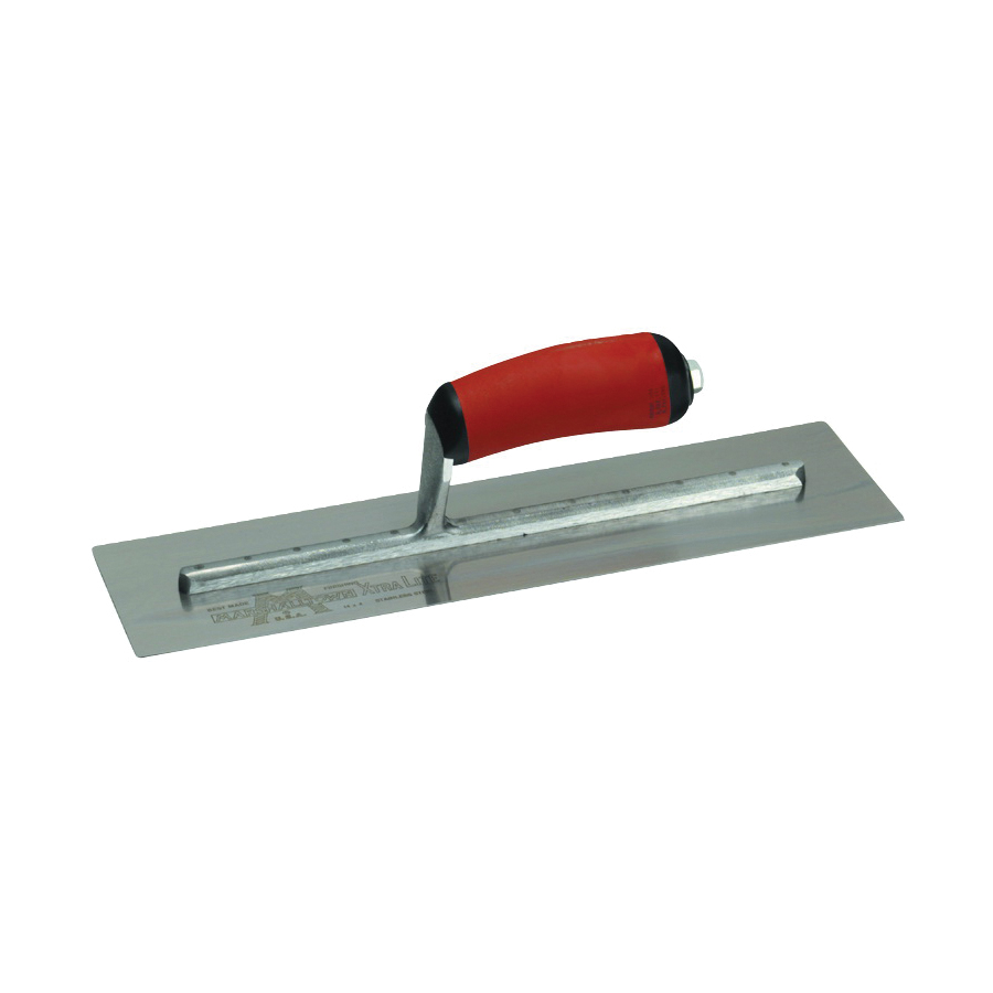 Picture of Marshalltown MXS64D Finishing Trowel, 14 in L Blade, 4 in W Blade, Spring Steel Blade, Square End, Curved Handle