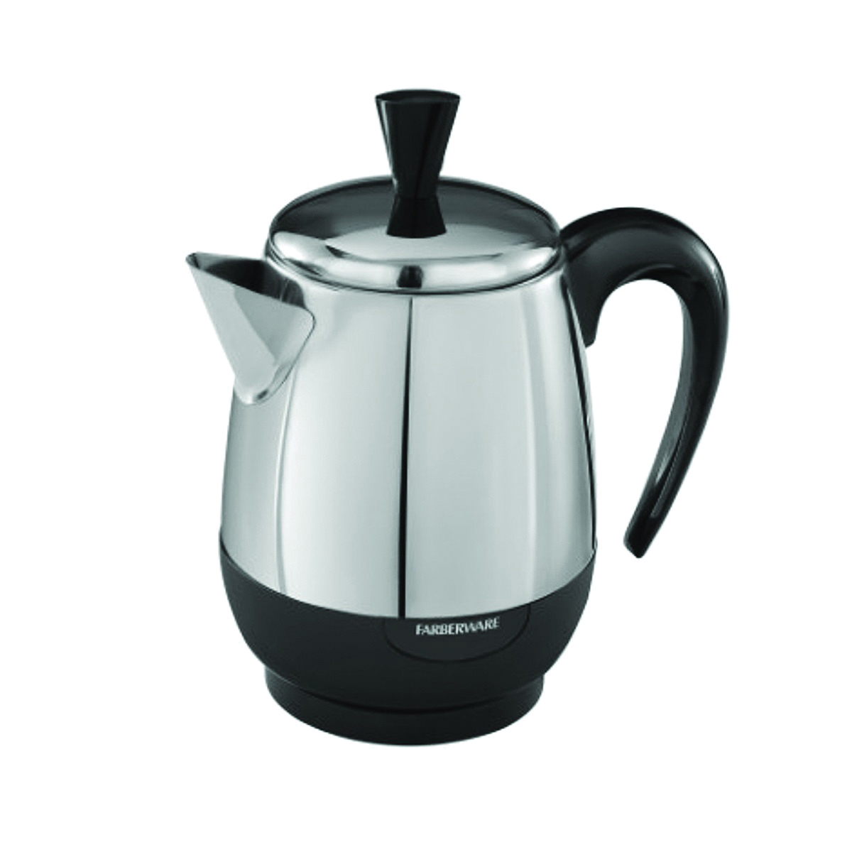 Picture of FARBERWARE FCP240 Electric Percolator, 2 to 4 Cups Capacity, 1 W, Stainless Steel, Knob Control