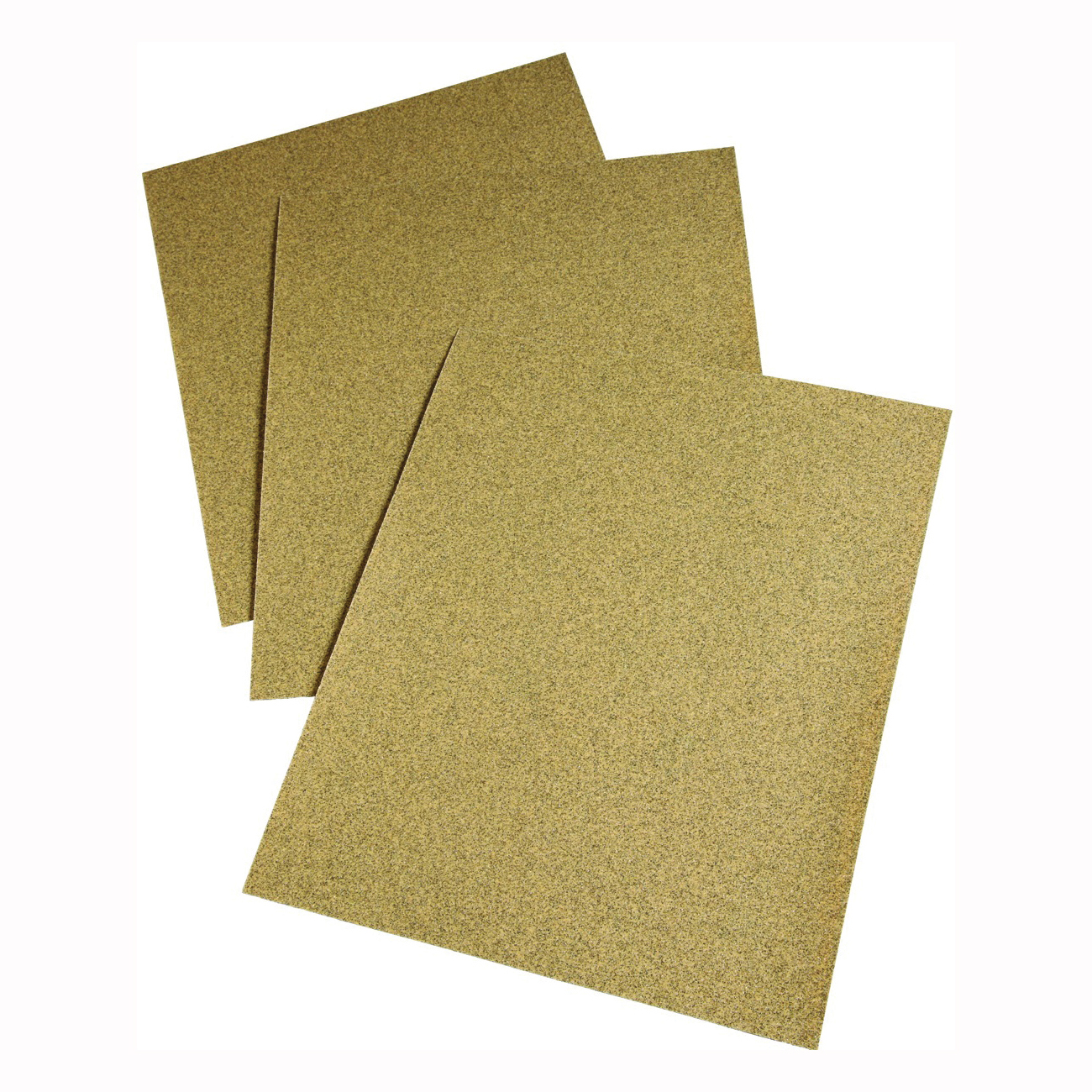 Picture of 3M 02114 Sanding Sheet, 11 in L, 9 in W, Medium, 100 Grit, Aluminum Oxide Abrasive, Paper Backing