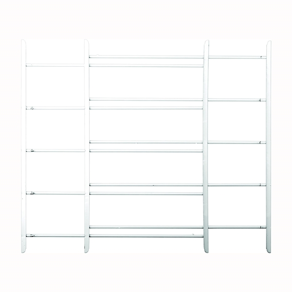 Picture of John Sterling 1120 Series 1125 Window Guard, 23 to 42 in W, 25 in H, Steel, White, 3/8 in Bar, 5-Bar