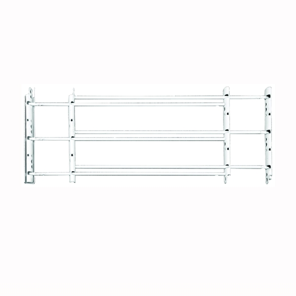 Picture of John Sterling 1130 Series 1133 Window Guard, 24 to 42 in W, 11 in H, Steel, White, 8-11/16 in Bar, 3-Bar