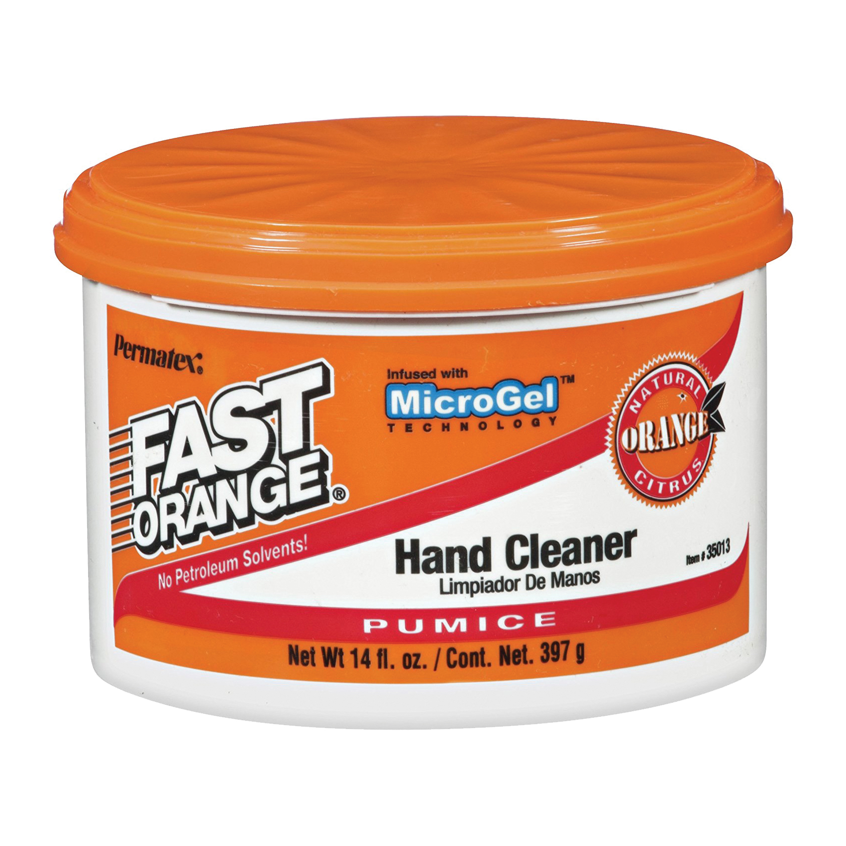 Picture of Permatex 35013 Hand Cleaner, Paste, White, Citrus, 14 oz Package, Tub