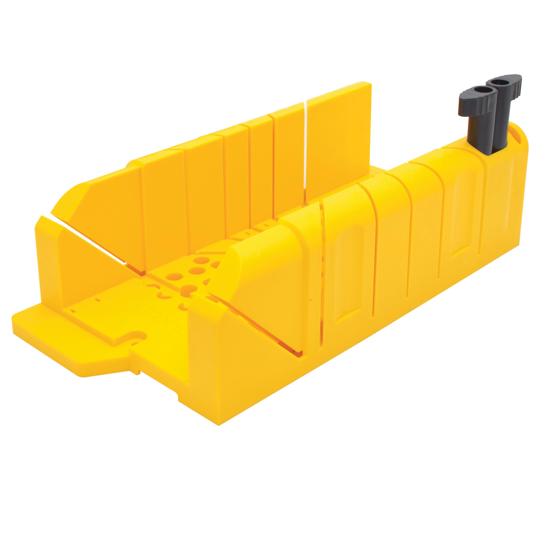 Picture of STANLEY 20-112 Clamping Mitre Box, 45/90 deg, 45 deg Face Angle, 22.5 deg Octagonal Cutting Slot, Polypropylene