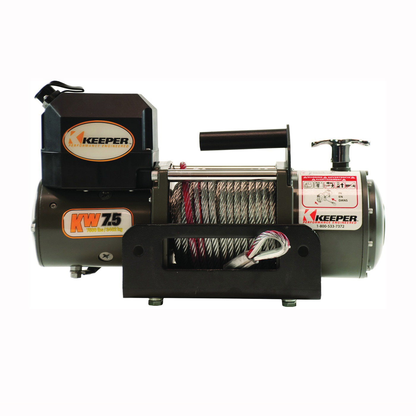 Picture of KEEPER KW75122RM Electric Winch, 12 VDC, 7500 lb