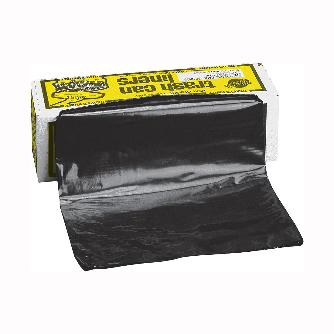 Picture of Warp's FLEX-O-BAG HB55-30 Trash Can Liner, 55 gal Capacity, Plastic, Black
