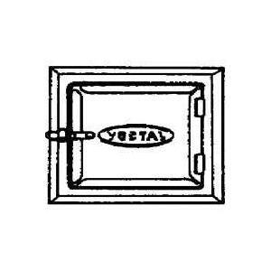 Picture of VESTAL ST-88 Cleanout Door, 8 in W, 8 in H, Galvanized Steel