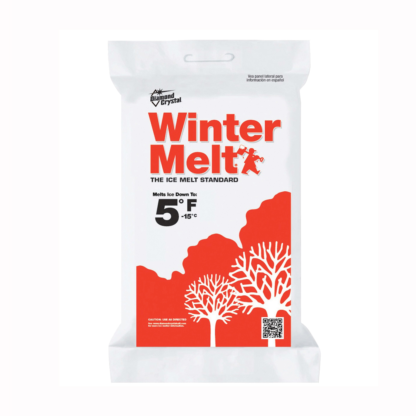Picture of Cargill Diamond Crystal Winter Melt 100012604 Ice Melter Salt, Crystalline Solid, White, 25 lb Package, Bag