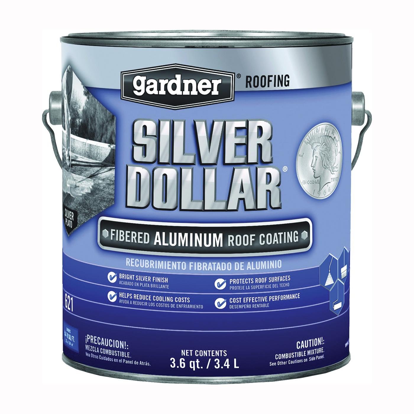 Picture of Gardner 6211-GA Aluminum Roof Coating, Aluminum, 3.4 L, Pail, Liquid