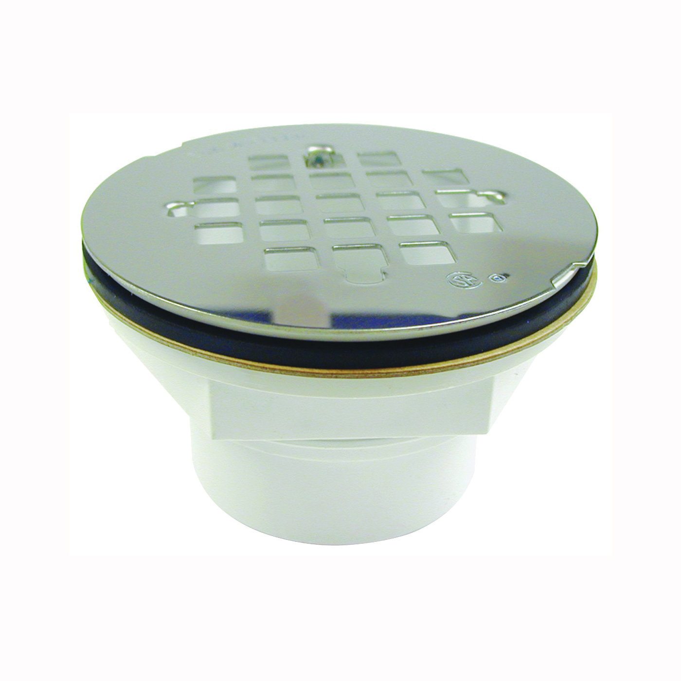 Picture of B & K 133-106 Shower Drain, Plastic, For: 2 in DWV or SCH 40 ABS or PVC Pipes