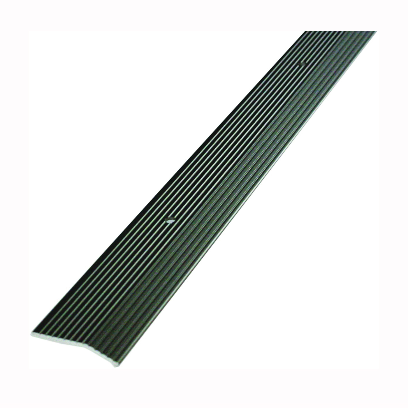 Picture of M-D 43856 Carpet Trim, 72 in L, 1-3/8 in W, Fluted Surface, Aluminum, Pewter