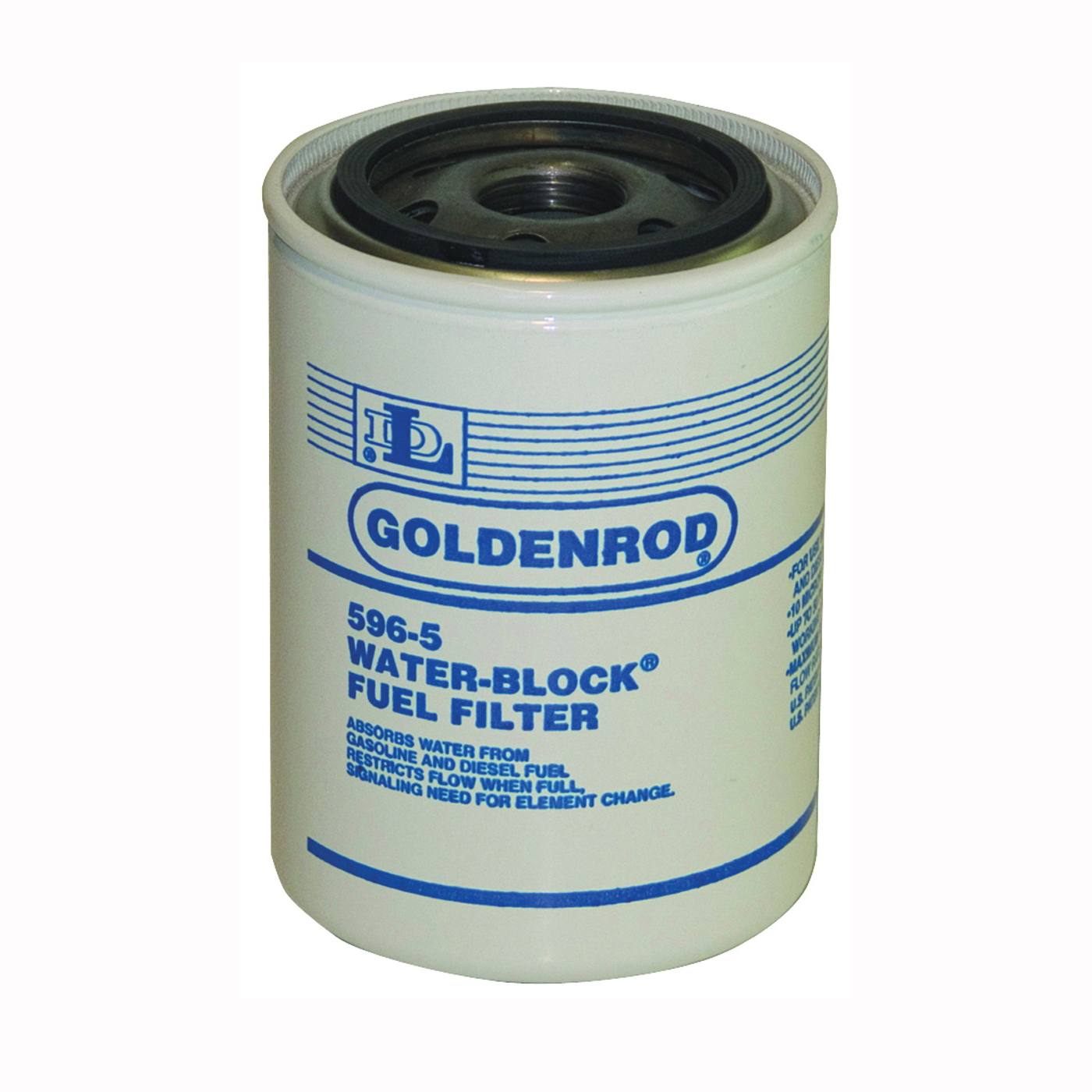 Picture of DL Goldenrod 596-5 Fuel Tank Filter, 12 gpm, For: 596 Model 10 micron Fuel Filter