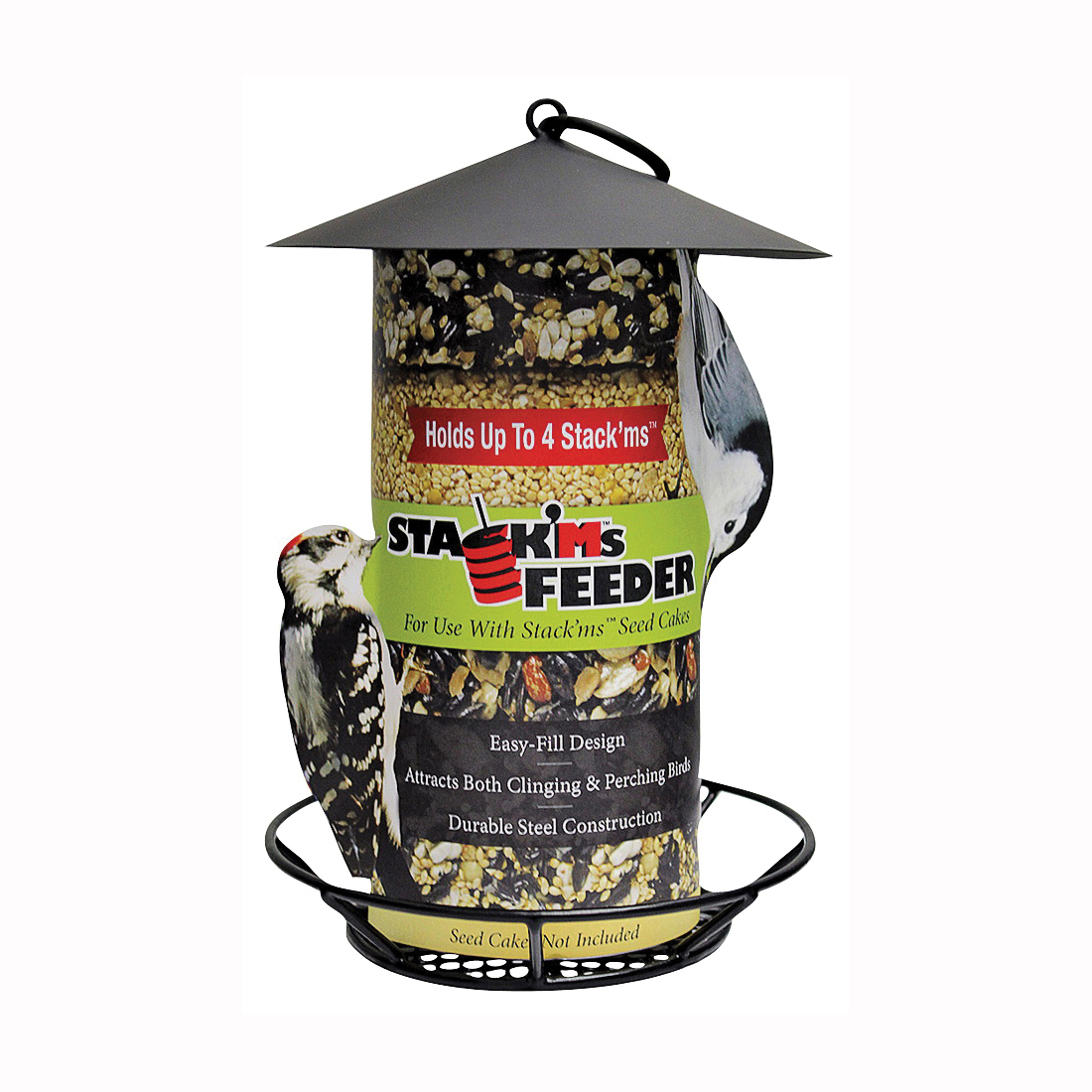 Picture of HEATH S-6-2 Wild Bird Feeder, 9-1/2 in H, 4 Seed Cakes, Steel, Hanging Mounting