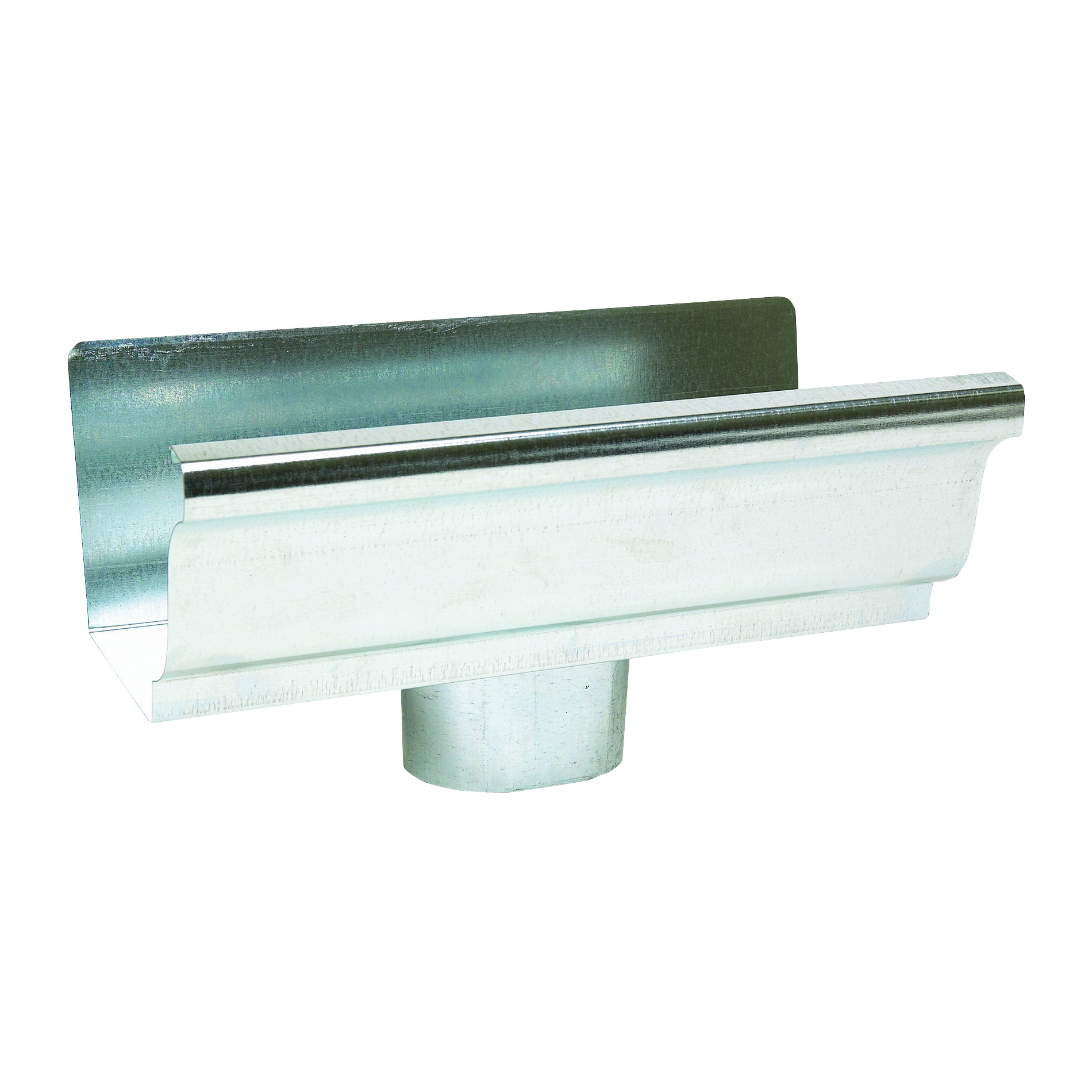 Picture of Amerimax 29010 Gutter End with Drop, 4 in L, 3 in W, Vinyl, For: 5 in K-Style Gutter System