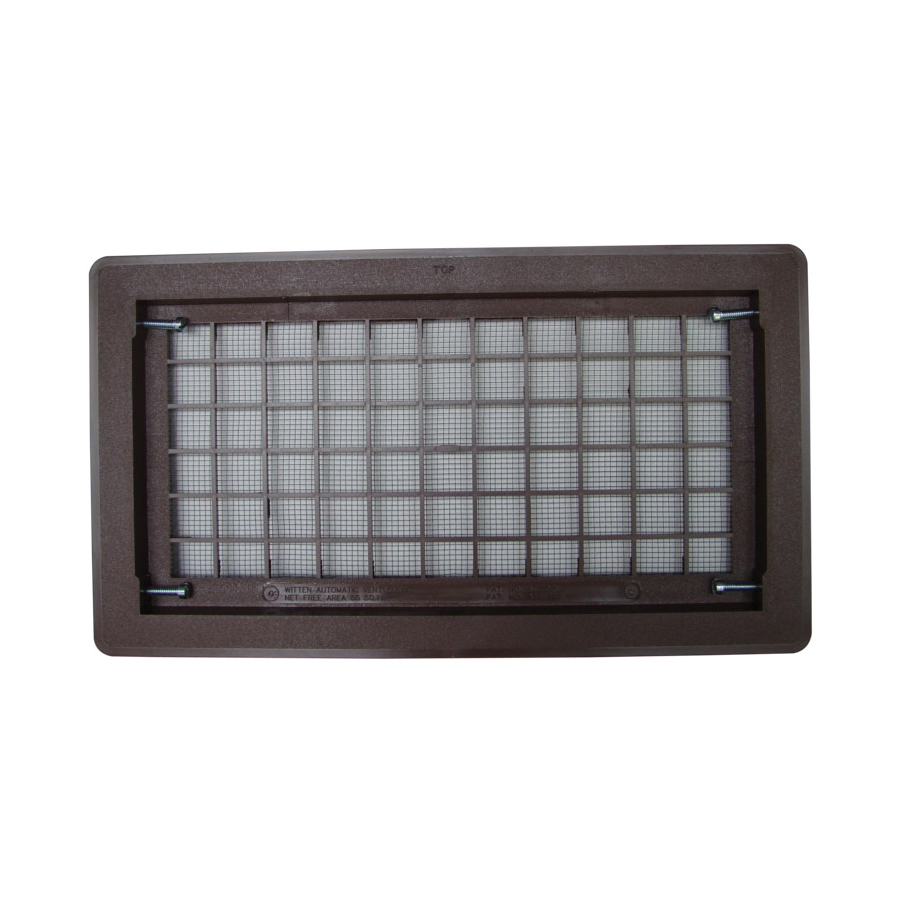 Picture of Bestvents 510BR Foundation Vent, 15-1/4 in W, Polypropylene, Brown