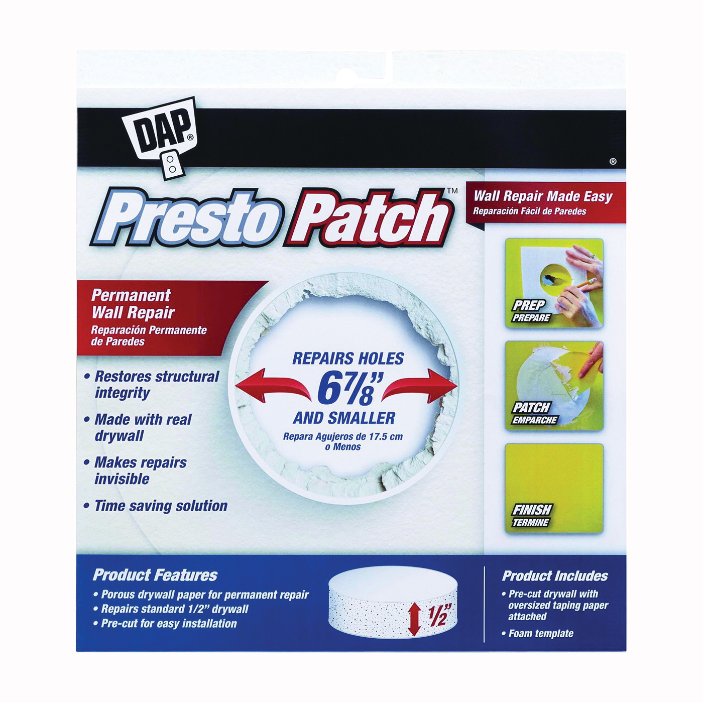 Picture of DAP Presto Patch 09157 Wall Repair Patch