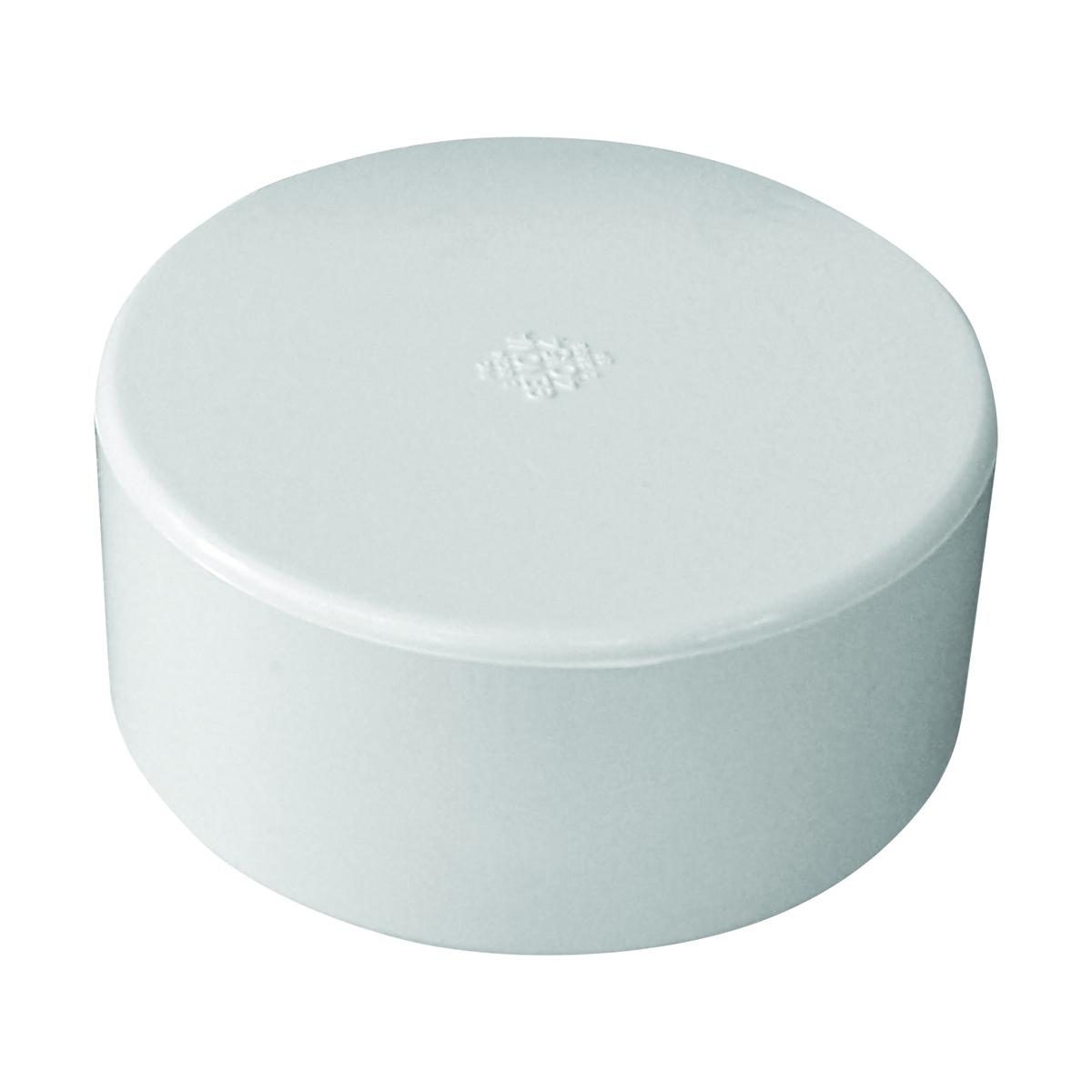 Picture of GENOVA 40154 Pipe Cap, 4 in, Hub, PVC, White