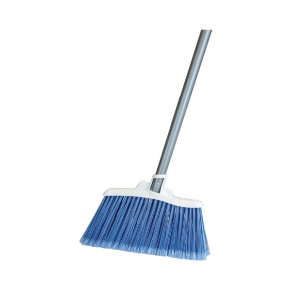 Picture of Quickie 750-4 Angle Broom, 12 in Sweep Face, Poly Fiber Bristle, Steel Handle