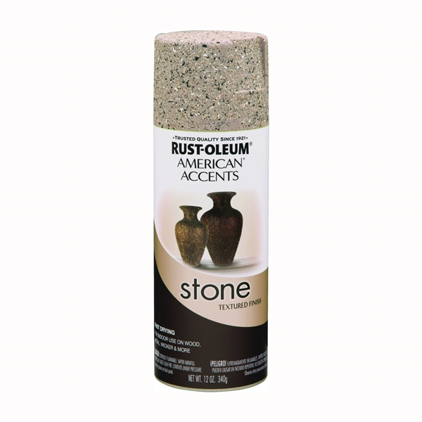 Picture of RUST-OLEUM AMERICAN ACCENTS 7995830 Stone Spray Paint Pebble, Solvent-Like, Pebble, 12 oz, Aerosol Can