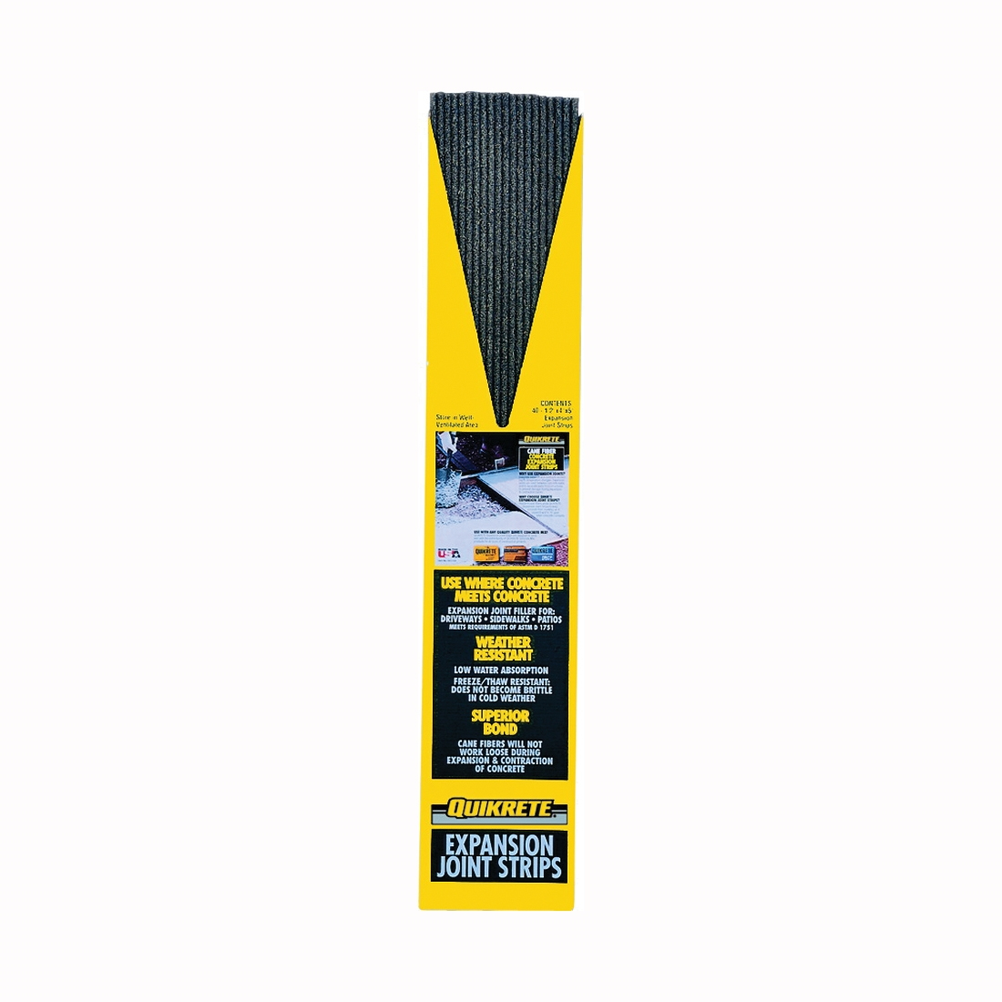 Picture of Quikrete 6917-03 Expansion Joint Strip, 5 ft L, 4 in W, 1/2 in Thick, Steel, Black