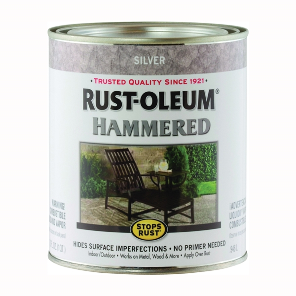 Picture of RUST-OLEUM STOPS RUST 7213502 Hammered Metal Finish, Silver, 1 qt, Can