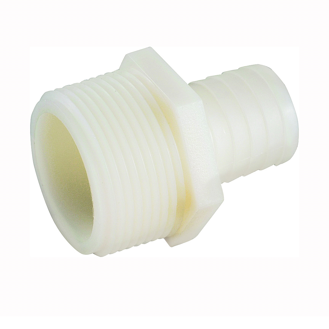 Picture of Anderson Metals 53701-0808 Hose Insert Adapter, 1/2 in, Barb, 1/2 in, MIP, 150 psi Pressure, Nylon