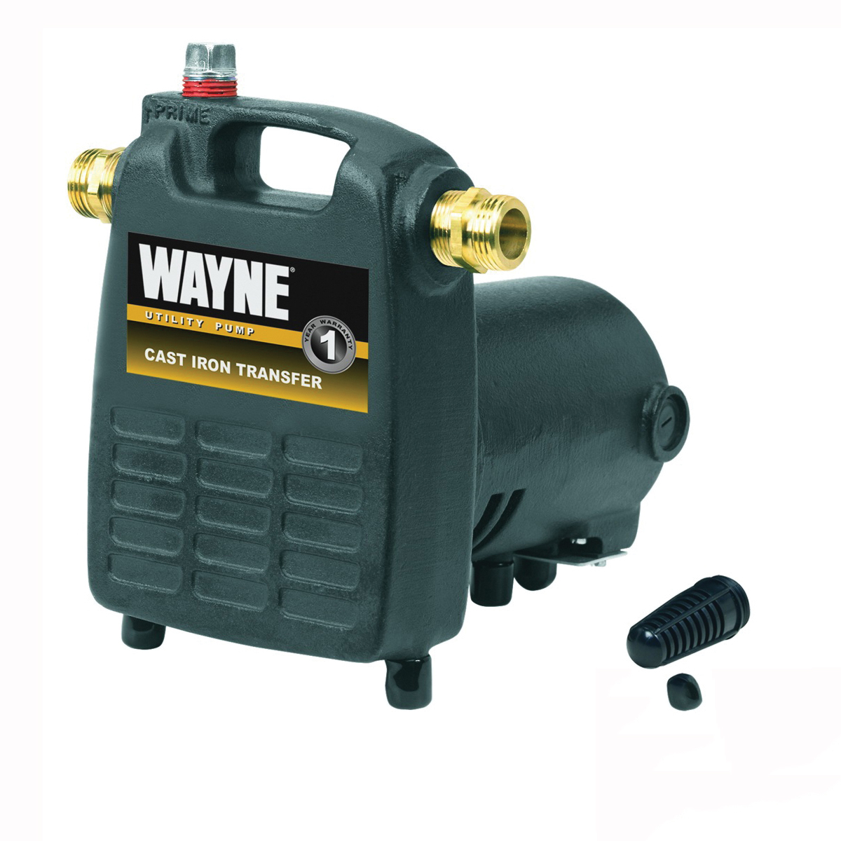Picture of WAYNE PC4 Utility Pump, 1-Phase, 8 A, 120 V, 0.5 hp, 3/4 in Outlet, 1600 gph, Thermoplastic Impeller, Iron