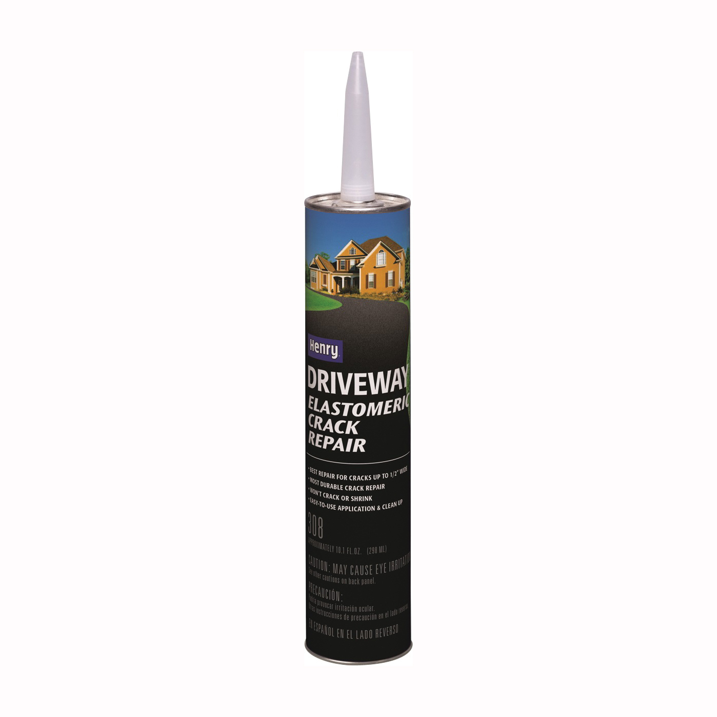 Picture of Henry HE308 Series HE308004 Crack Repair, Liquid, Black, Slight, 10.1 oz Package, Cartridge