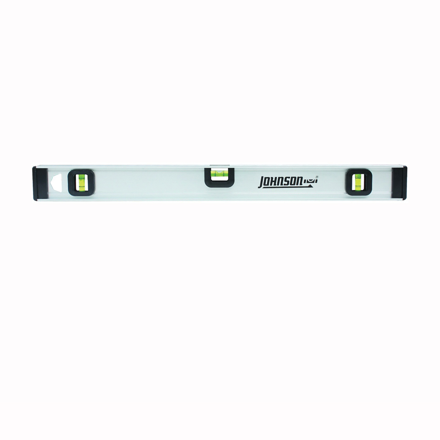Picture of Johnson 1300-3600 I-Beam Level with Rule, 36 in L, 3 -Vial, Non-Magnetic, Aluminum, Silver