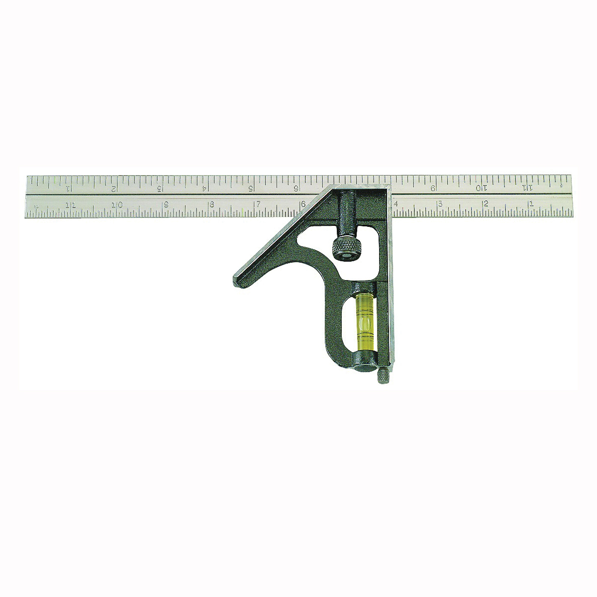 Picture of Johnson 400 Combination Square, 12 in L Blade, SAE Graduation, Stainless Steel Blade