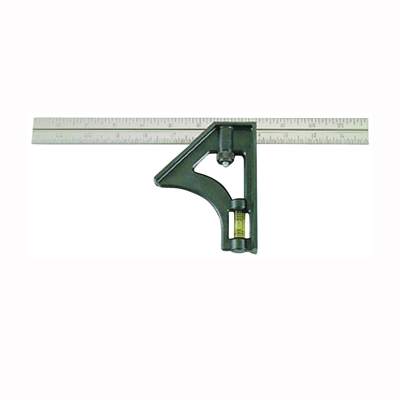Picture of Johnson 415 Combination Square, 12 in L Blade, SAE Graduation, Stainless Steel Blade