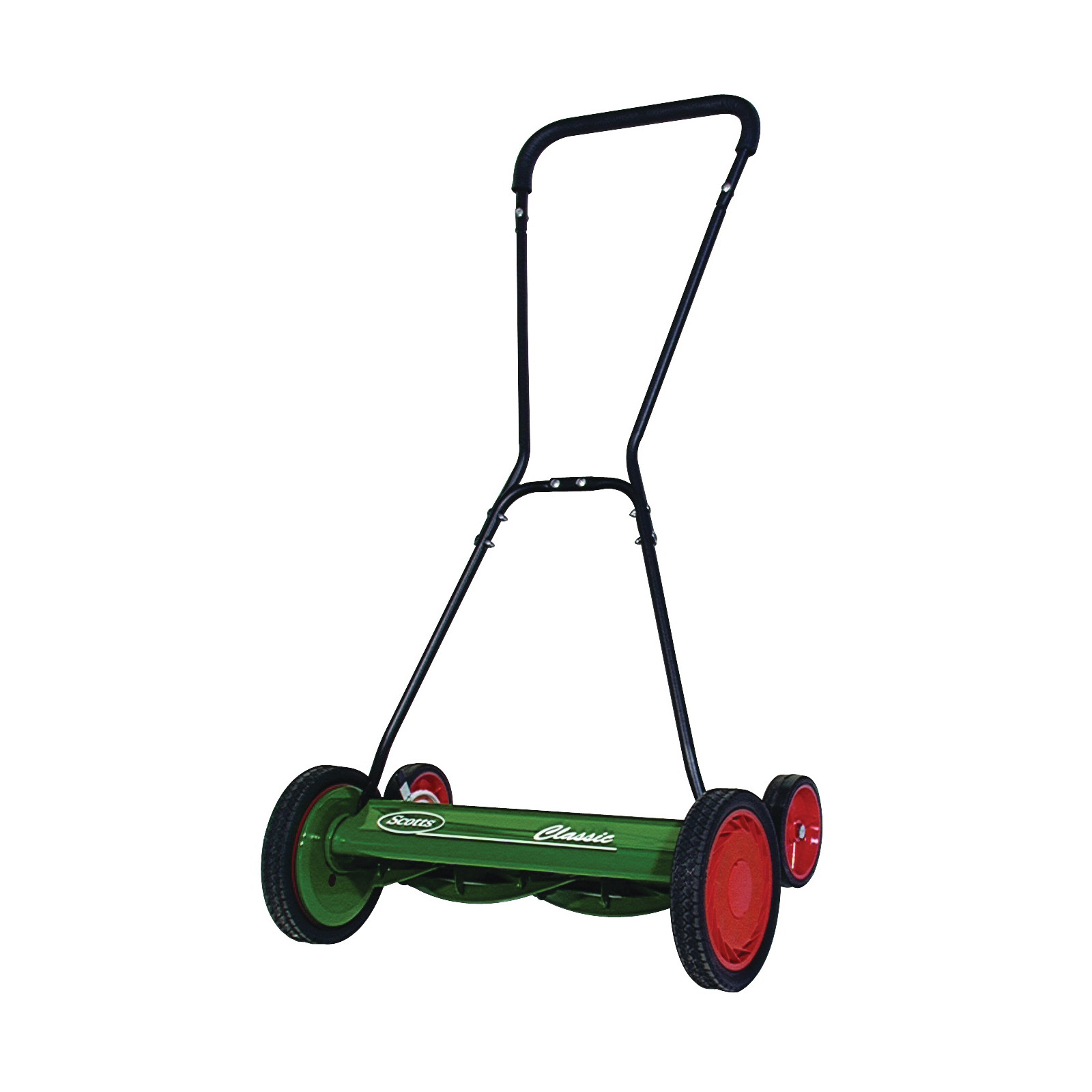 Picture of GREAT STATES 2000-20 Reel Lawn Mower, 20 in W Cutting, 5 -Blade, Foam-Grip Handle, Green