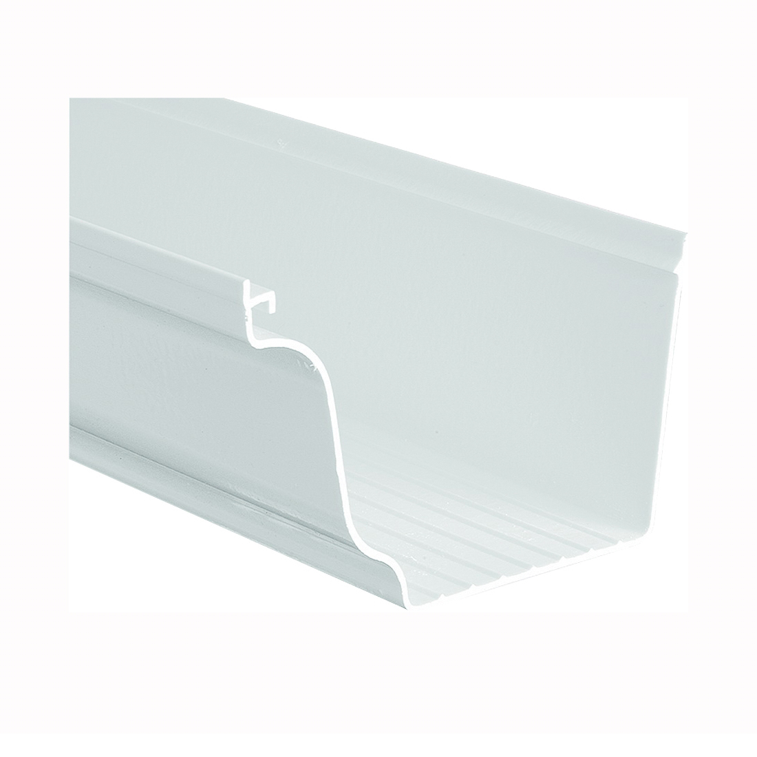 Picture of GENOVA AW100 Gutter, 10 ft L, 5 in W, Steel, White