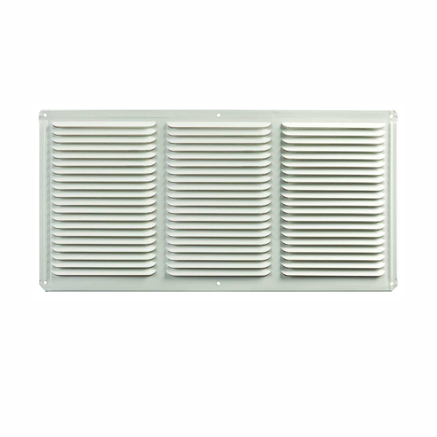 Picture of Master Flow EAC16X8W Undereave Vent, 8 in L, 16 in W, 65 sq-ft Net Free Ventilating Area, Aluminum, White