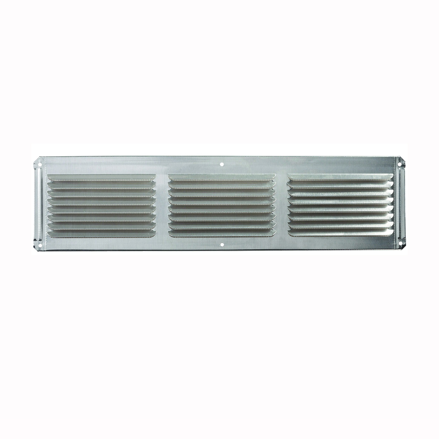 Picture of Master Flow EAC16X4 Undereave Vent, 4 in L, 16 in W, 26 sq-ft Net Free Ventilating Area, Aluminum, Mill