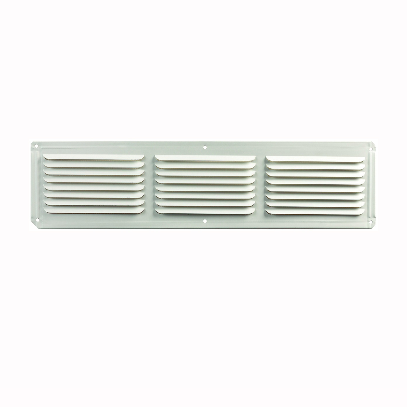Picture of Master Flow EAC16X4W Undereave Vent, 4 in L, 16 in W, 26 sq-ft Net Free Ventilating Area, Aluminum, White