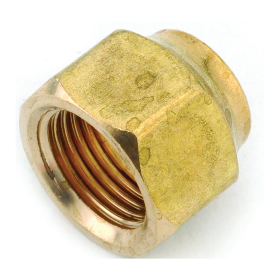 Picture of Anderson Metals 754018-06 Flare Nut, 3/8 in, Flare, Brass