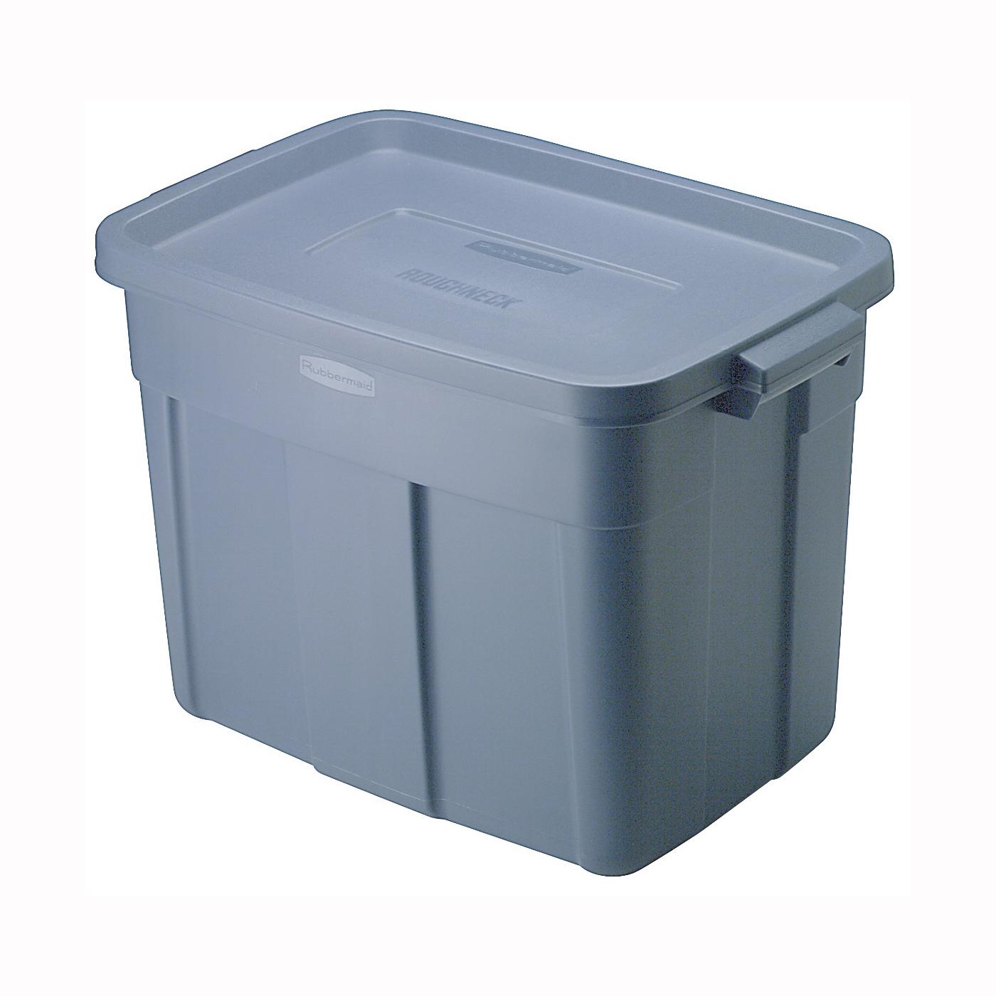 Picture of Rubbermaid Roughneck RMRT180000 Storage Box, Polyethylene, Dark Indigo, 23.9 in L, 15.9 in W, 16-1/2 in H