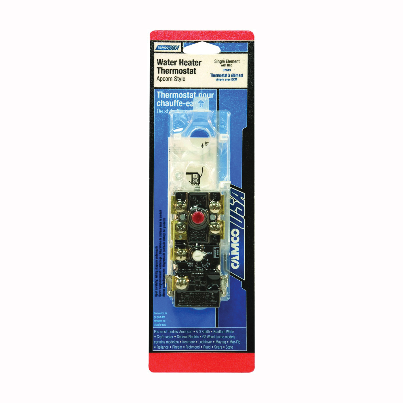 Picture of CAMCO 07843 Water Heater Thermostat, 120 V, 110 to 160 deg F