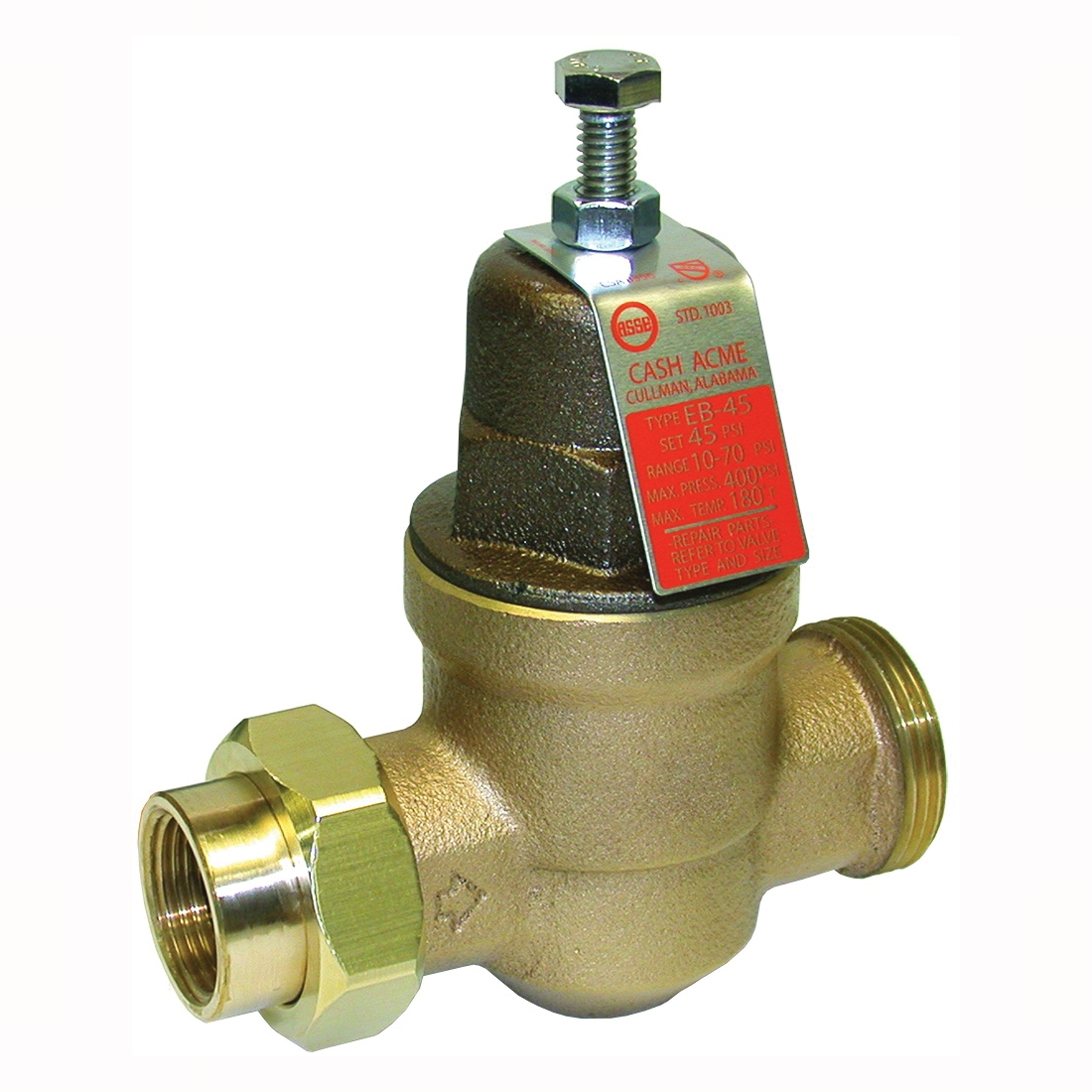 Picture of SharkBite EB45 Series 23882-0045 Pressure Regulating Valve, 1/2 in Connection, Single Union x NPT, Bronze Body