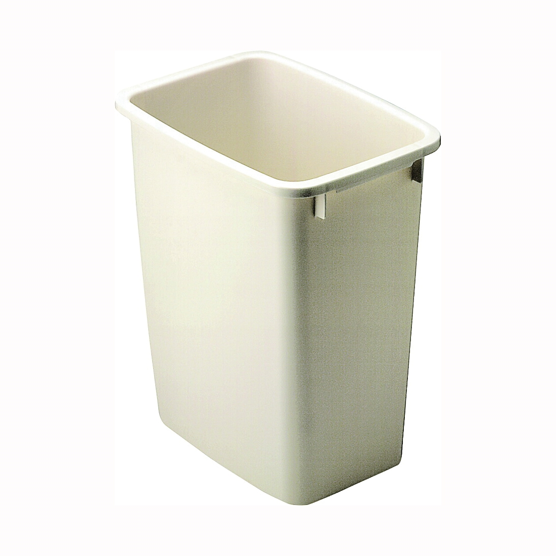 Picture of Rubbermaid FG280500BISQU Waste Basket, 21 qt Capacity, Rectangular, Plastic, Bisque, 9 in W, 12.9 in D, 15 in H