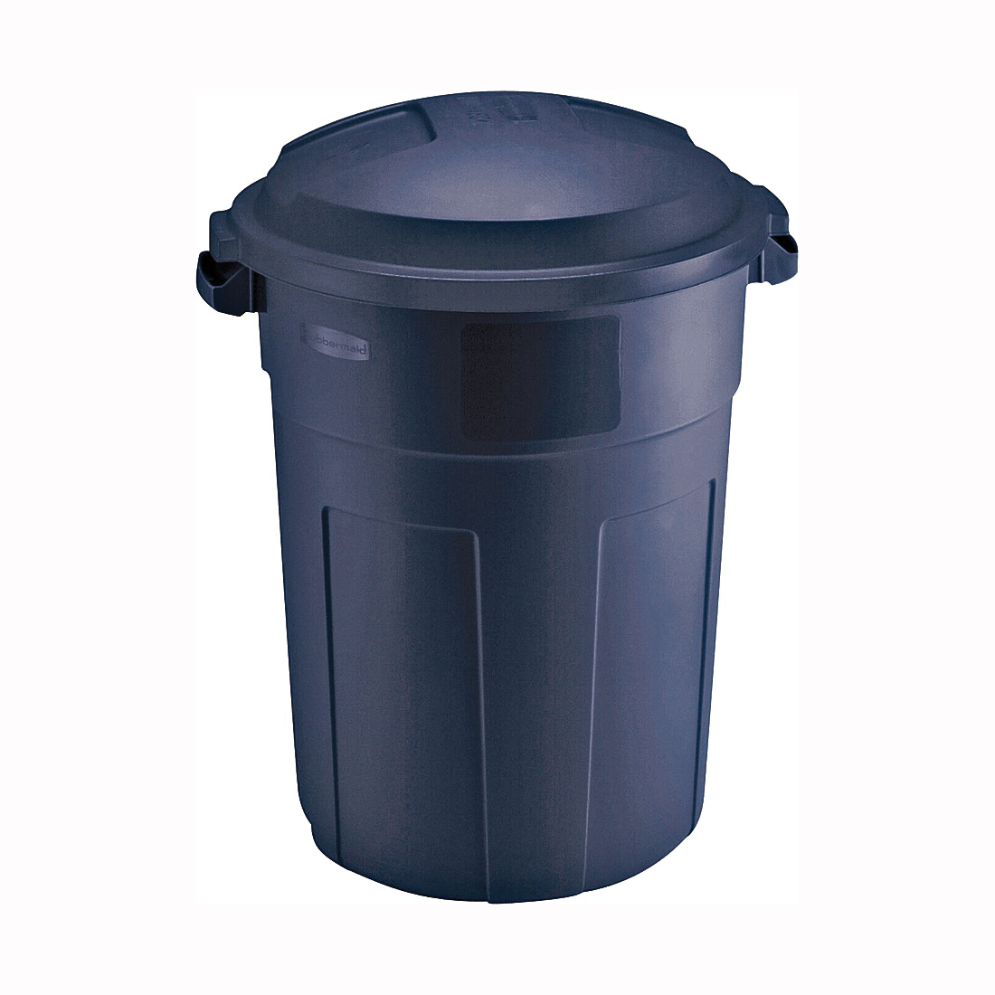 Picture of Rubbermaid FG2894FFBLAZB Refuse Container, 32 gal Capacity, Plastic, Blazer Blue, Snap-Fit Lid Closure