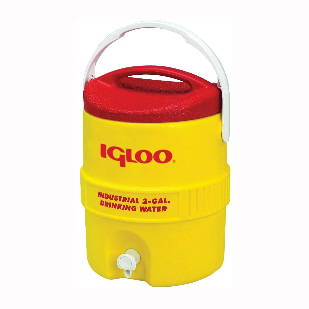 Picture of IGLOO 400 Series 00000421 Water Cooler, 2 gal Tank, Lever Spigot, Polyethylene, Red/Yellow